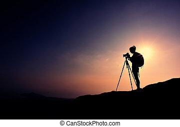 принятие, женщина, фотограф, фото