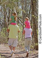 принятие, семья, ходить