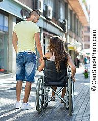 принятие, социальный работник, инвалид, ходить