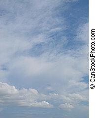 природа, clouds, небо, яркий, лето, задний план, cloudscape, синий