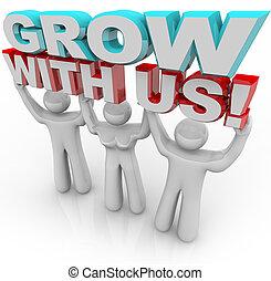 присоединиться, личный, -, нас, рост, группа, расти