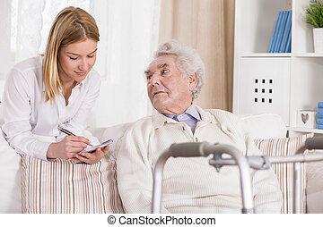проблема, старшая, гулять пешком, человек