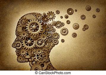 проблемы, слабоумие, головной мозг