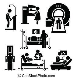 проверить, больница, медицинская, диагностика