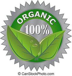 продукт, органический, метка