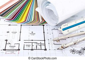 проект, архитектор, концепция, дизайн, drawings