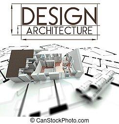 проект, дом, blueprints, дизайн, архитектура