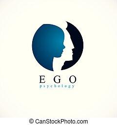 происхождения, индивидуальность, умственный, analysis., человек, дизайн, немного, концепция, психический, здоровье, inner, profile, глава, терапия, ребенок, человек, мальчик, created, психология, problems., внутри, вектор, эго