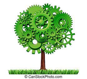 промышленность, дерево, бизнес, успех