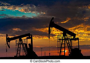 промышленность, масло, equipment., pumps.