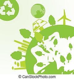 промышленность, экология, пространство