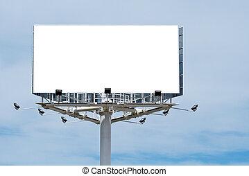 просто, текст, добавить, рекламный щит, пустой, ваш