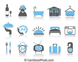 просто, цвет, гостиница, icons