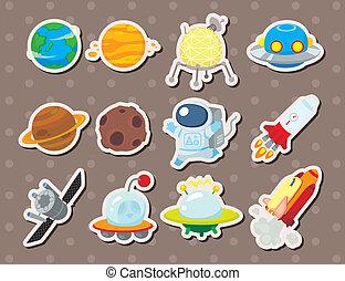 пространство, stickers