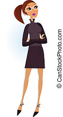 профессиональный, isolated, бизнес-леди