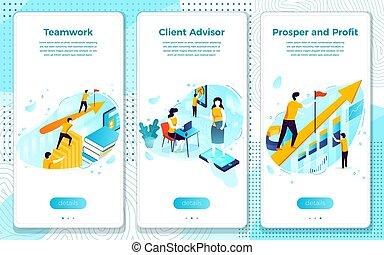 процветать, командная работа, клиент, вектор, прибыль, помогите