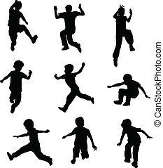 прыжки, children