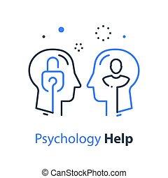 психология, психотерапия, познавательный, человек, глава, концепция, замок, profile, или