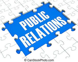 публичность, головоломка, связи, нажмите, общественности, shows