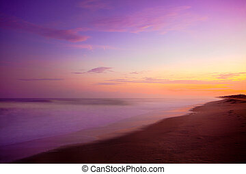 пурпурный, восход