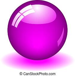 пурпурный, мяч