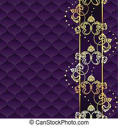 пурпурный, элегантный, рококо, задний план