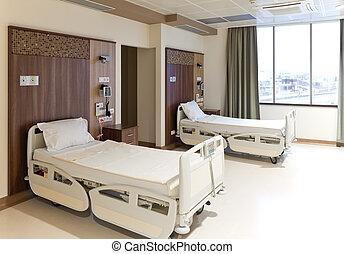 пустой, больница, комната, современное