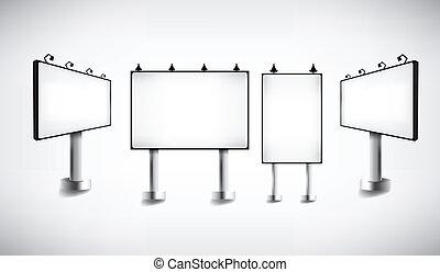 пустой, рекламный щит