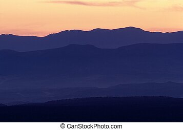 пустыня, аризона, закат солнца