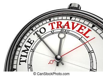 путешествовать, концепция, время, часы