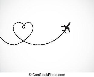 путешествовать, люблю, концепция