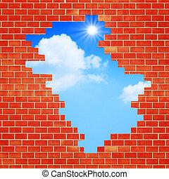 путь, freedom., абстрактные, backgrounds, дизайн, архитектурный, ваш