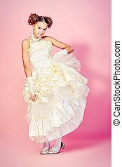 пушистый, платье