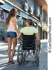 работник, социальное, инвалид, ходить, принятие