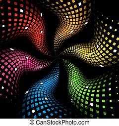 радуга, абстрактные, динамический, задний план, 3d