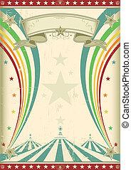 радуга, марочный, цирк, плакат
