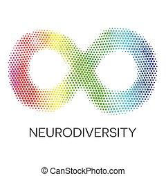 радуга, loop., бесконечность, neurodiversity, symbol.
