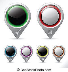 различный, указатель, icons