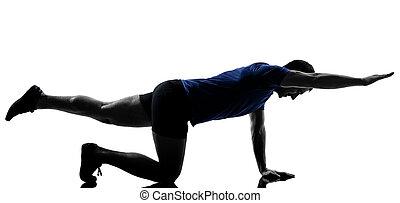 разрабатывать, человек, exercising
