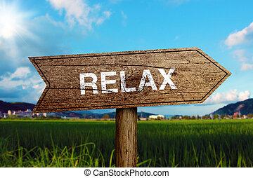 расслабиться, дорога, знак