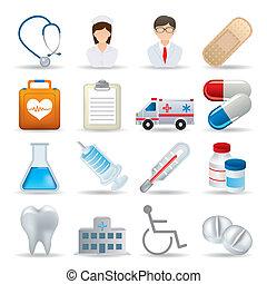 реалистический, медицинская, задавать, icons