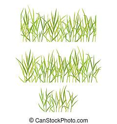 реалистический, трава, зеленый