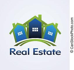 реальный, концепция, дизайн, имущество