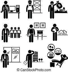 реальный, estates, строительство, jobs