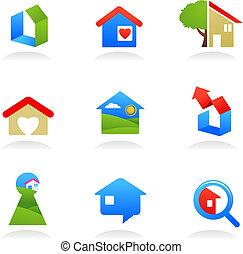 реальный, logos, имущество, /, icons