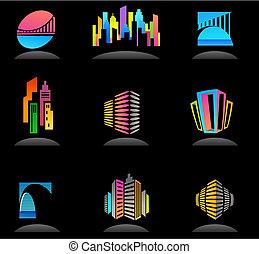 реальный, logos, имущество, icons, -, /, строительство, 5