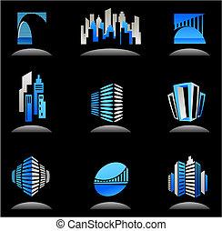 реальный, logos, имущество, icons, -, /, строительство, 6
