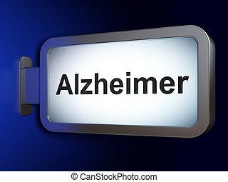 рекламный щит, лекарственное средство, альцгеймер, concept:, задний план