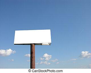 рекламный щит, пустой