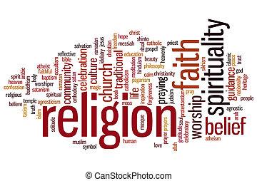 религия, слово, облако